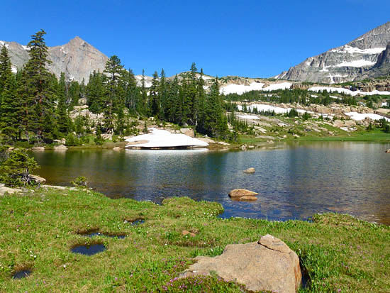 Lion Lake #1, with Mount Alice (13,310') in the distance